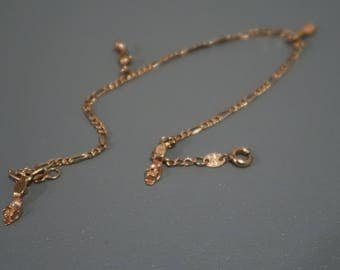 18K GoldFill Anklet with shoe charms