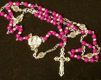Hot pink Rosary
