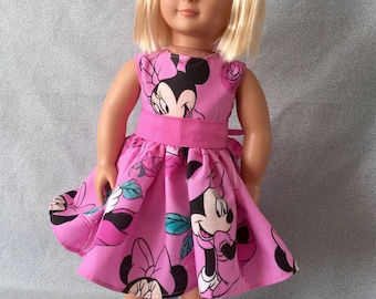 18 inch doll Minnie Mouse dress