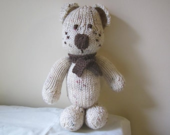 Hand knitted dog / Cuddly toy