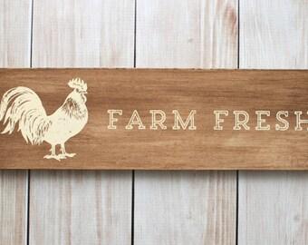 Farm Fresh Chicken Wall Decor Sign