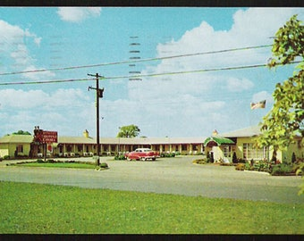 Metricks Motel Postcard Cleveland Ohio Roadside US42 OH PC