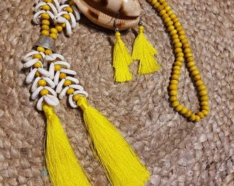 Tassel earings to match necklace