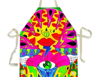 Watermelon Deity - Apron for Adults and Kids