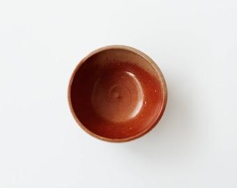 Vintage Rust Ceramic Pottery Bowl