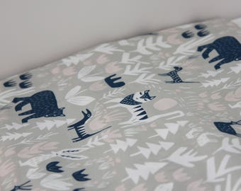 Fitted Cot Sheet, Woodlands, Baby, Toddler
