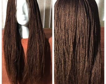 Tobi :Front lace Braided and Twisted Wig