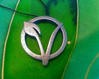 Stainless Steel Vegan Symbol Necklace