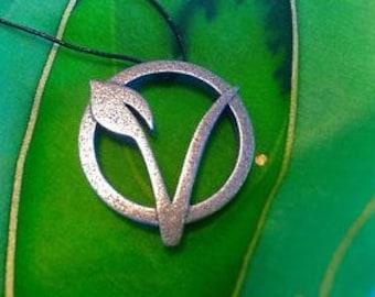 Stainless Steel Vegan Symbol Necklace