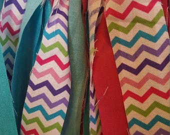 Cotton Candy Rag Tie Banner/Garland
