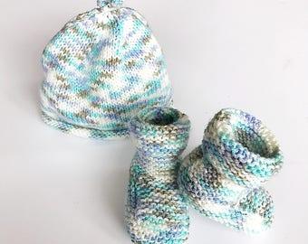 Handmade Hat & Bootie set