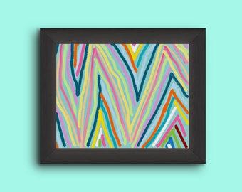 The Classic ZigZag. Abstract Print Painting.