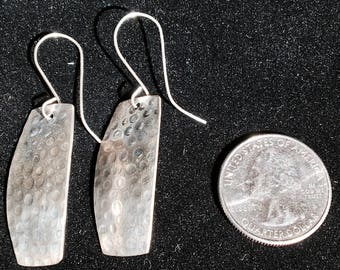 Textured Silver Earring
