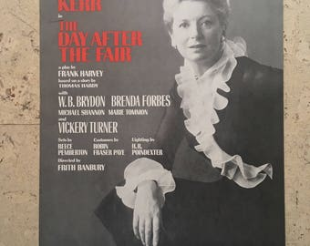 Free shipping. 1970s theatre poster. Deborah Kerr. The Day After The Fair.