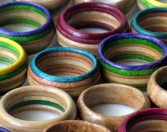 Beautifully Customed Wood Rings