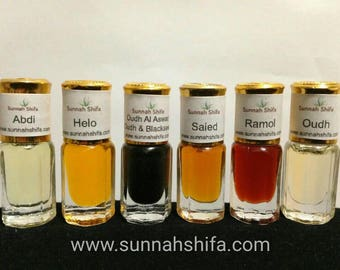 Attar // Oil-based perfumes // Perfumed Oils // Middle Eastern perfume // Oudh // Arabic Perfume // Ramadan gift // Eid gift // Islamic gift