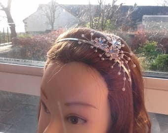 Clear floral and pearl tiara