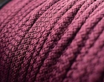 Marron au Crochet corde épaisse, corde de 6mm au crochet, gros fil, corde de polyester, cordon en macramé, cordon tressé, tricot, laine, crochet, crochet cordon