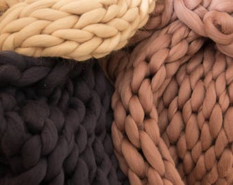 Warm, soft, cozy blankets, and other articles made of merino wool for you and your family!