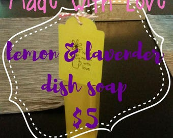 lemon & lavender dish soap