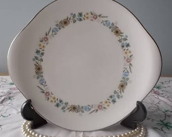 Vintage 1960s Cake Plate  Royal Doulton Pastorale H5002 Gateaux Plate/Bread and Butter Plate/Sandwich Plate Bone China