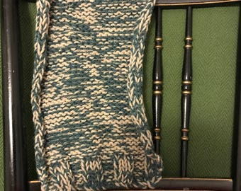 Wool 2 Colored Knitted Scarf
