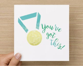 You've Got This runner's greeting card - Limited print run!
