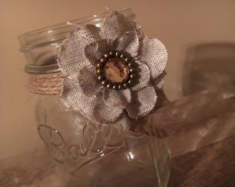 Decorative Mason Jar, Glassware, Rustic, Home Decor