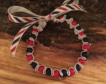 Ribbon bracelet (Patriotic)