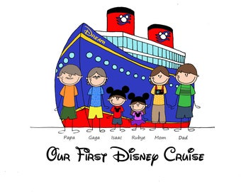 Custom Disney Cruise Vacation T Shirt-Sizes newborn to adult 3XL