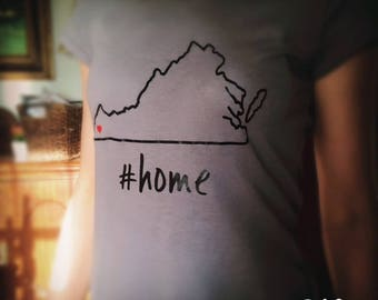 Customized home/state/town/county t-shirt - Virginia - any state