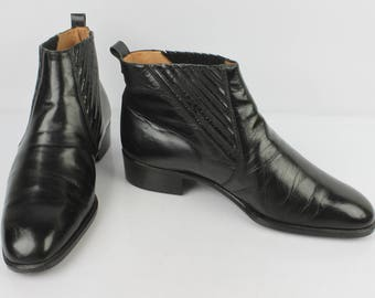 Vintage boots Boots BELORGEY luxury all leather black UK 6.5 / en 41
