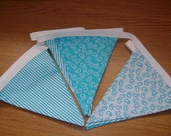Turquoise Fabric Bunting