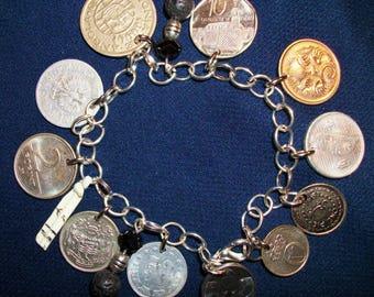 International Genuine Coin Bracelet