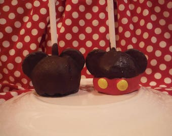 Magically Inspired Mickey Mouse Cake Pops- Mickey Mouse Party Favor- No cake pop stand necessary!