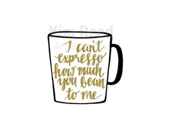 Hand Painted I Can't Expresso How Much You Bean to Me Print; Wall Art and Decor
