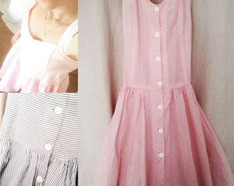 Vintage dress blue or pink pin up style