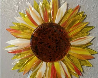 Stunning Fused Glass Sunflower