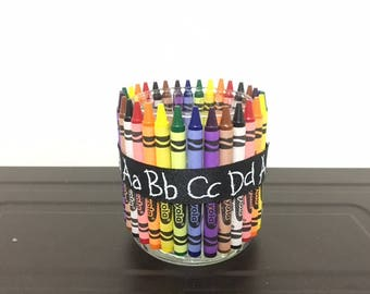 Crayon Desk Organizer-Teacher Gift-Rainbow Dish-Thank You Gift-Personalized Teacher Gift-Teacher valentines Gift-School Christmas Gift