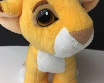 Disney Authentic The Lion King Baby Simba Vintage 1993 Mattel Kissing Plush RARE