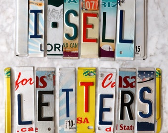 WHOLESALE LICENSE PLATE letters and numbers