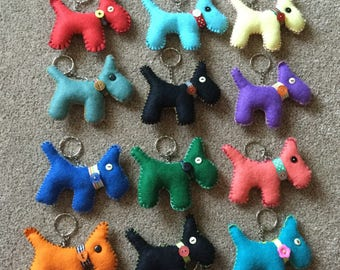 Felt Scotty Dog Keyring