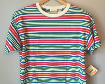 Vintage Women's Striped 80s 90s T Shirt