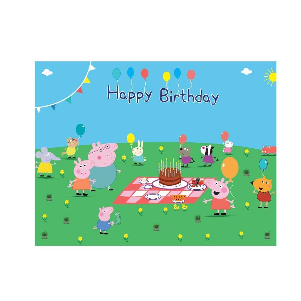 peppa pig printable backdrop wallpaper peppa pig party