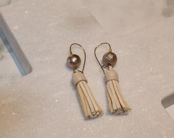 Bronze Tassel Earrings