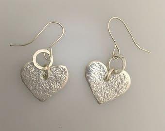 Reticulated  Heart Earrings
