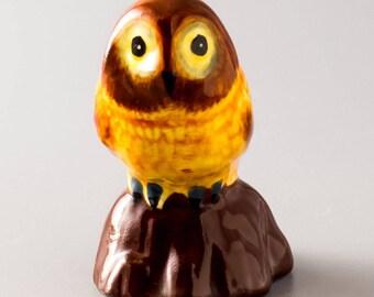 Miniature Figurine Owl. ceramics. home decor. art