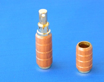 hardwood spun perfume or cologne holder