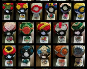 Crochet Pokeball Amigurumi