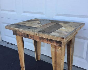 Custom wooden coffee table reclaimed wood